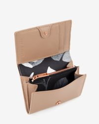 Ted Baker Natural Small Crosshatch Leather Wallet