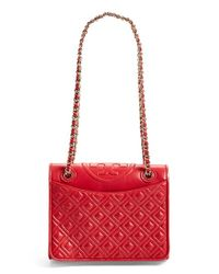 Tory Burch | Red Medium 'Fleming' Shoulder Bag | Lyst