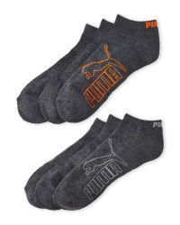 PUMA - Gray 6-Pack Logo Outline Low Cut Socks for Men - Lyst