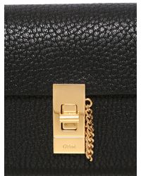 Chloé | Black Nappa Leather Wallet With Flap | Lyst