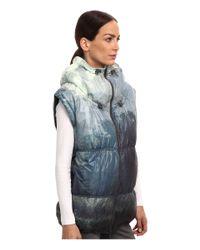 Adidas By Stella McCartney - Blue Weekender Printed Gilet - Lyst
