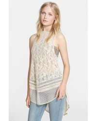 Free People Natural 'maisie' Lace Tunic