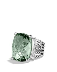 David Yurman - Metallic Wheaton Ring With Prasiolite And Diamonds - Lyst