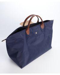 Longchamp - Blue Navy Nylon 'Le Pliage' Large Folding Travel Tote - Lyst