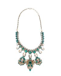 Deepa Gurnani | Green Empress's Fortune Necklace, Emerald | Lyst