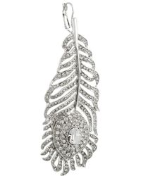 Kenneth Jay Lane | Metallic Rhodium-Plated Swarovski Crystal Earrings | Lyst