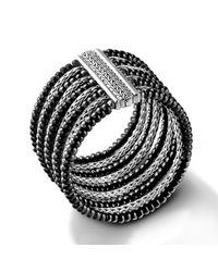 John Hardy | Black Multi-Row Bracelet | Lyst