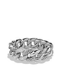 David Yurman | Metallic Belmont Curb Link Bracelet With Diamonds, 18mm | Lyst