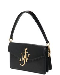J.W.Anderson | Black Jw Logo Leather Top Handle Bag | Lyst