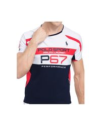 Polo Ralph Lauren - Blue Polo Sport Micro-dot T-shirt for Men - Lyst