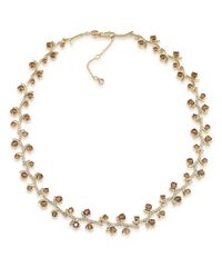 Carolee | Gold-tone Brown Crystal Vine Collar Necklace | Lyst