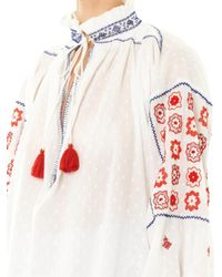 Thierry Colson - Guise Cotton Embroidered Top - Lyst