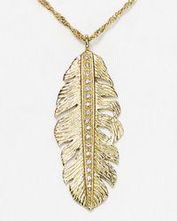 "Melinda Maria - Metallic Nina Feather Necklace, 18"" - Lyst"
