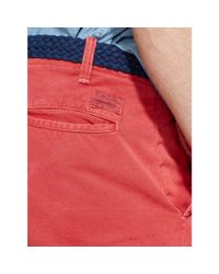 Polo Ralph Lauren - Red Straight-fit Maritime Short for Men - Lyst