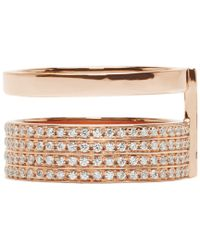 Repossi | Pink Rose Gold And Diamond Double_Band Berbere Ring | Lyst