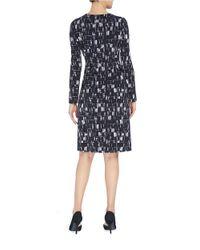 Ellen Tracy Black Mystique Twist Faux Wrap Dress