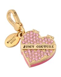 Juicy Couture - Pink Pendant - Lyst