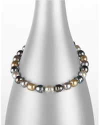 Majorica | Metallic Multi-colored Baroque Organic Man-made Pearl Necklace | Lyst
