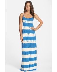 Lucky Brand Blue 'Sedona' Tie Dye Maxi Cover-Up Dress