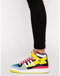 Adidas - Multicolor Forum Mid High Top Sneakers - Lyst
