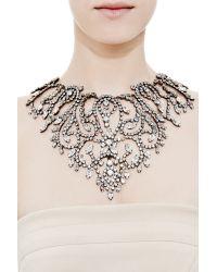 Carole Tanenbaum Metallic Vintage Kenneth Jay Lane Large Rhinestone Bib Necklace