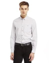 Kenneth Cole | Gray Checkered Sportshirt for Men | Lyst