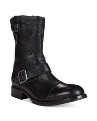 Cole Haan Black Wayne Zip Boots for men