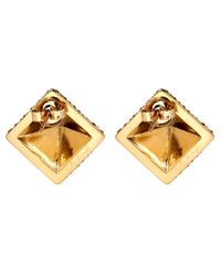 Lulu Frost - Metallic Gold-tone Apex Pave Pyramid Stud Earrings - Lyst
