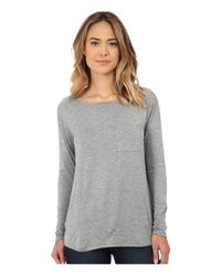 CJ by Cookie Johnson | Gray Long Sleeve Pocket Tee | Lyst