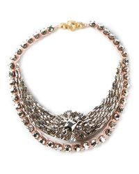 Shourouk   Pink Mini 'river Comet' Necklace   Lyst