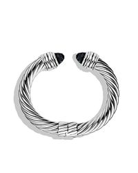 David Yurman | Metallic Cable Classics Bracelet With Black Onyx | Lyst