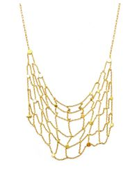 Sia Taylor Metallic Gold Seed Grid Necklace