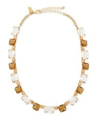 kate spade new york | Yellow Formal Facets Collar Necklace | Lyst
