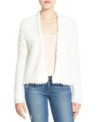 Halogen | White Textured Cardigan | Lyst