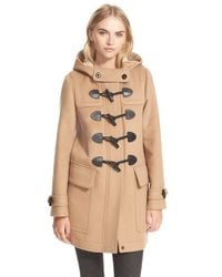 Burberry Brit Natural 'finsdale' Wool Duffle Coat