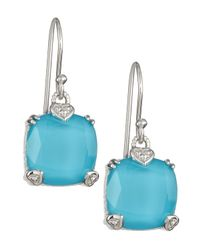Judith Ripka - Blue Turquoise Doublet Cushion Earrings - Lyst