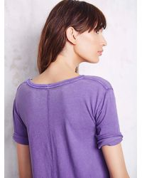 Free People - Purple Womens Melrose Swing Tee - Lyst