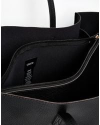 ASOS Structured Shopper Bag With Removable Clutch - Black