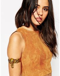 ASOS | Metallic Statement Elephant Arm Cuff | Lyst