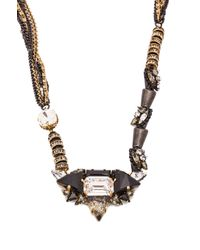 Erickson Beamon - Metallic Sacred Geometry Necklace - Lyst