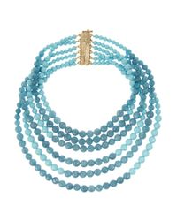 Rosantica | Blue Amanda Golddipped Turquoise and Angelite Necklace | Lyst