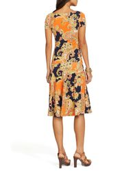 Ralph Lauren - Orange Lauren Petites Paisley Drop Waist Dress - Lyst