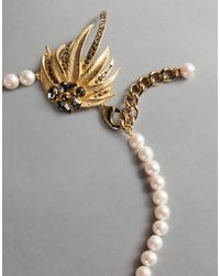 """Dolce & Gabbana - White """"pearl"""" Necklace - Lyst"""