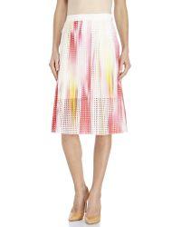 Elie Tahari - Multicolor Dillan Woven Midi Skirt - Lyst