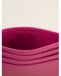 Giorgio Armani - Pink Classic Card Holder - Lyst