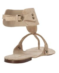 Leon Max - Natural Vance - Ankle Wrap Sandals - Lyst