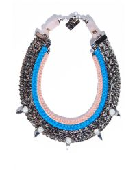 Lizzie Fortunato Blue Excess And Elegance Necklace
