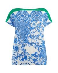 Persona | Multicolor Plus Size Short Sleeved Printed Drape Top | Lyst