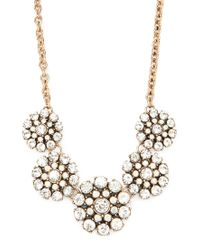 Forever 21 | Metallic Flower Statement Necklace | Lyst