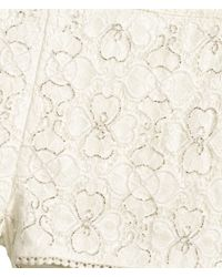 H&M Natural Beaded Lace Shorts